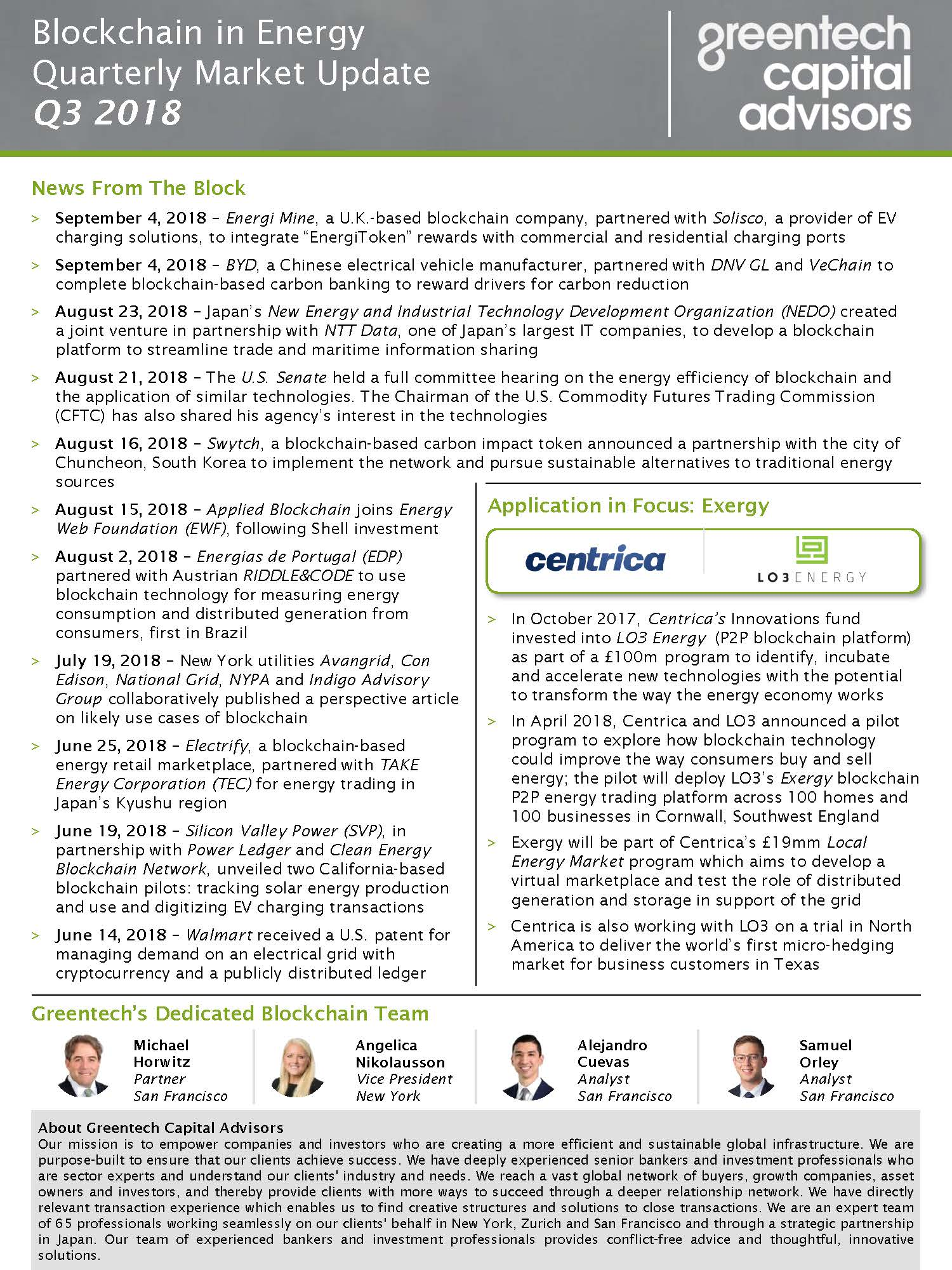 Sustainable Food & AgTech Market Update Newsletter - July 2018