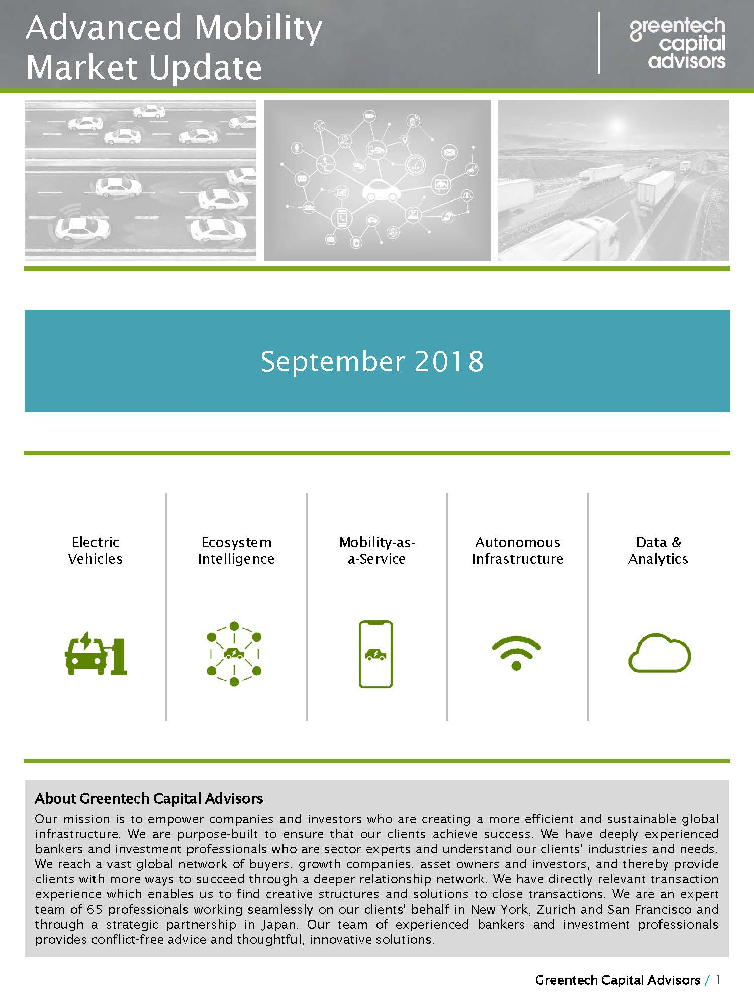 Advanced Mobility Market Update - July 2018