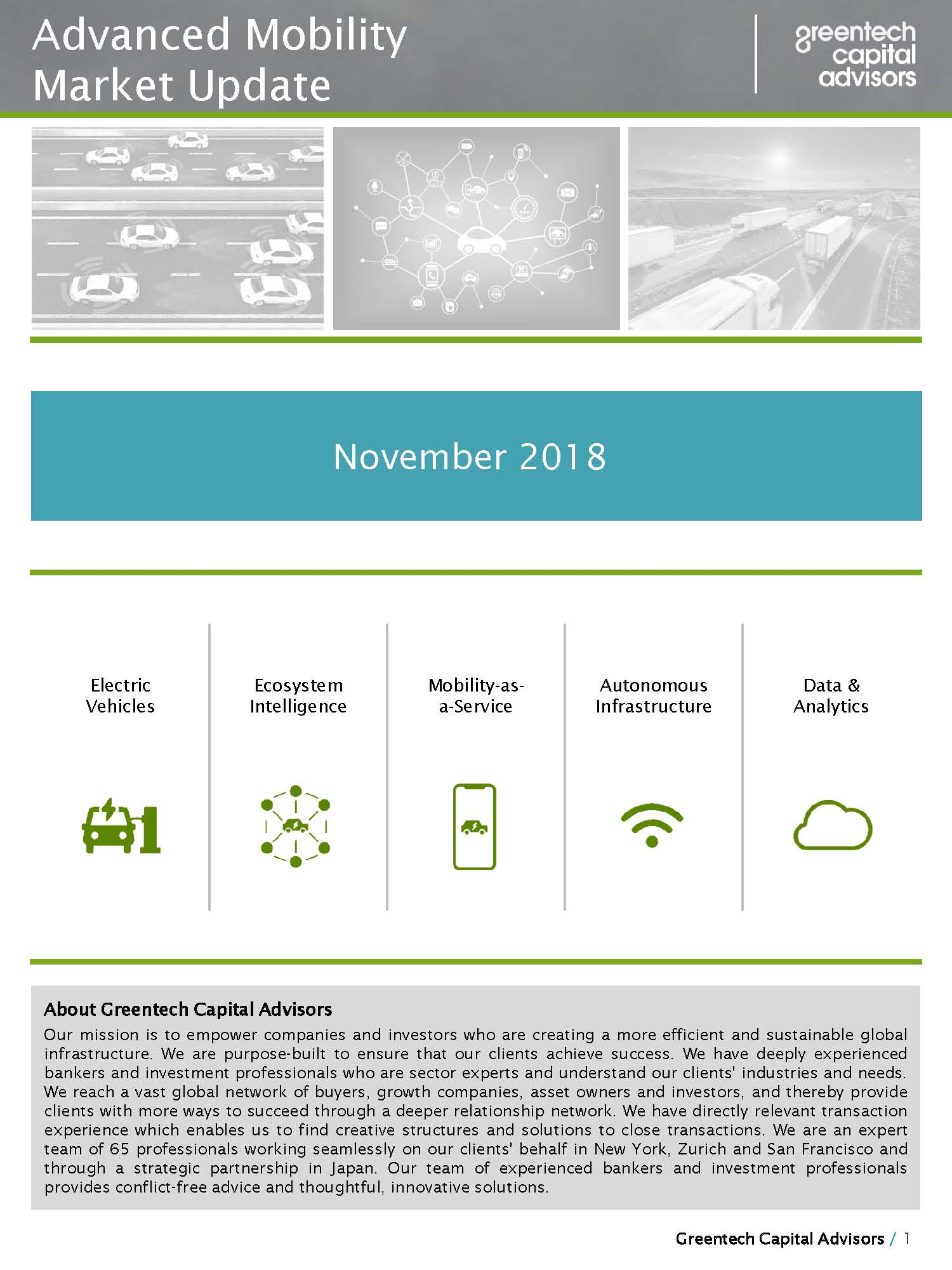 Advanced Mobility Market Update - October 2018