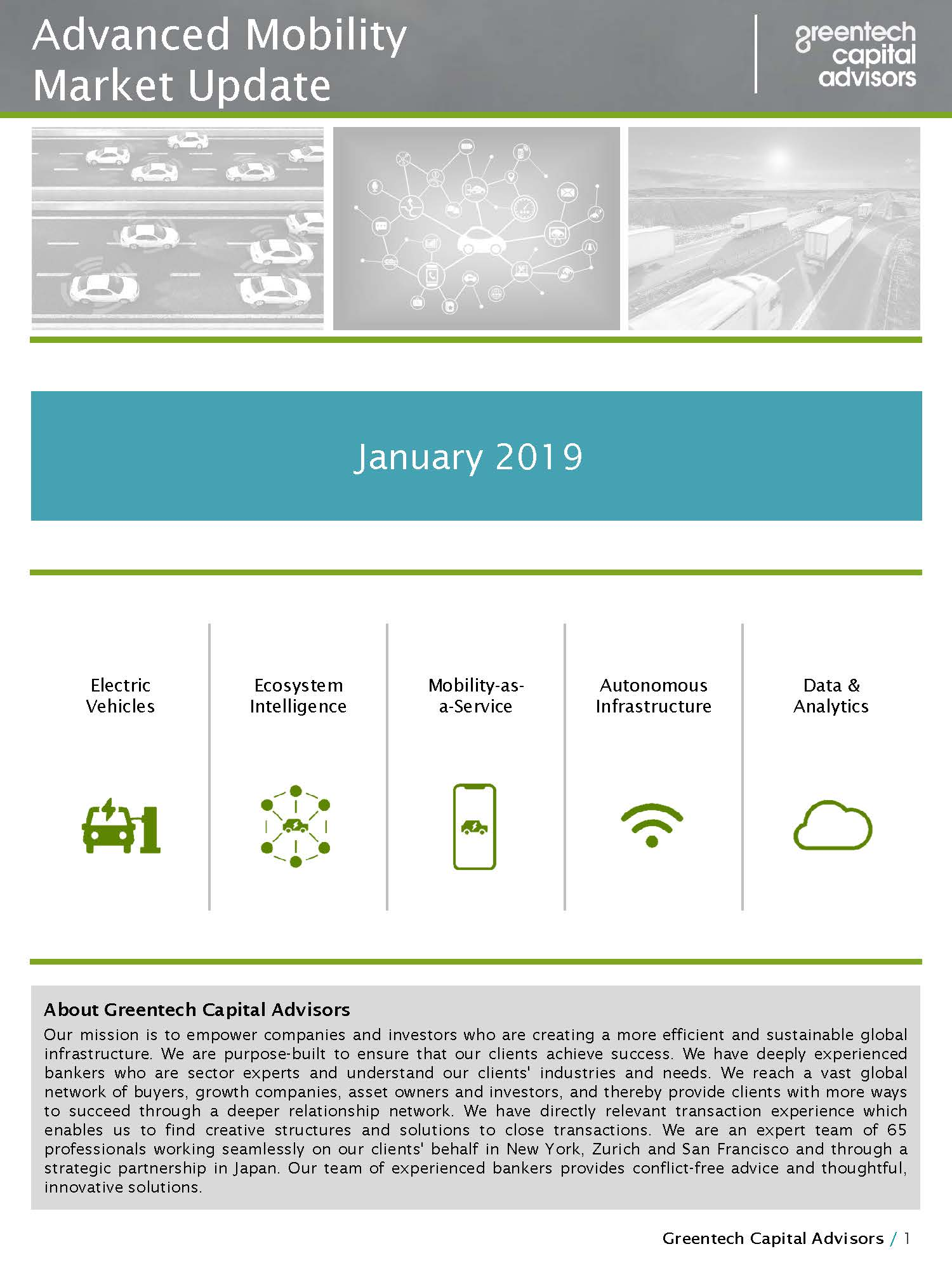 Advanced Mobility Market Update - January 2019