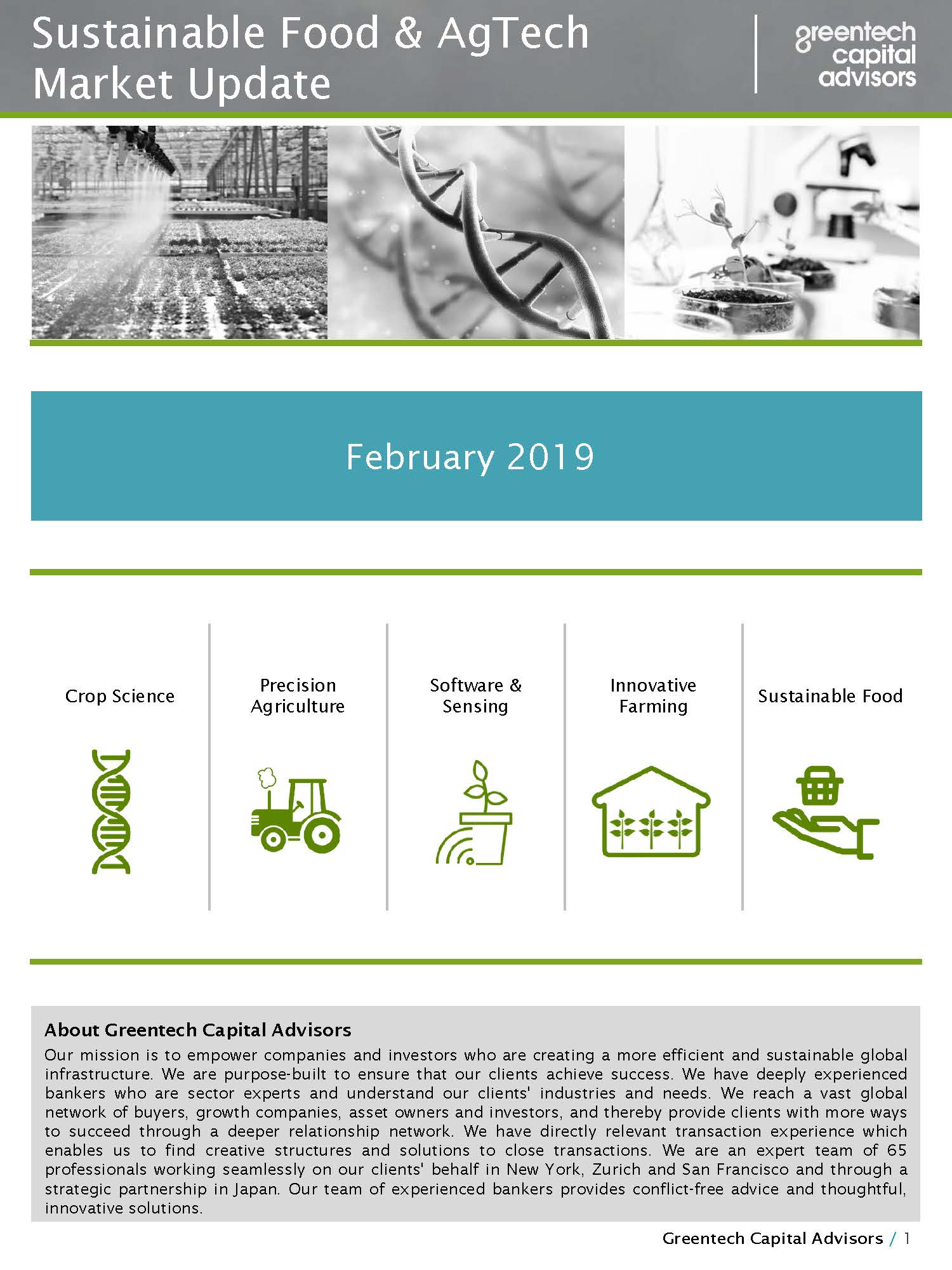 Sustainable Food & AgTech Market Update Newsletter - February 2019