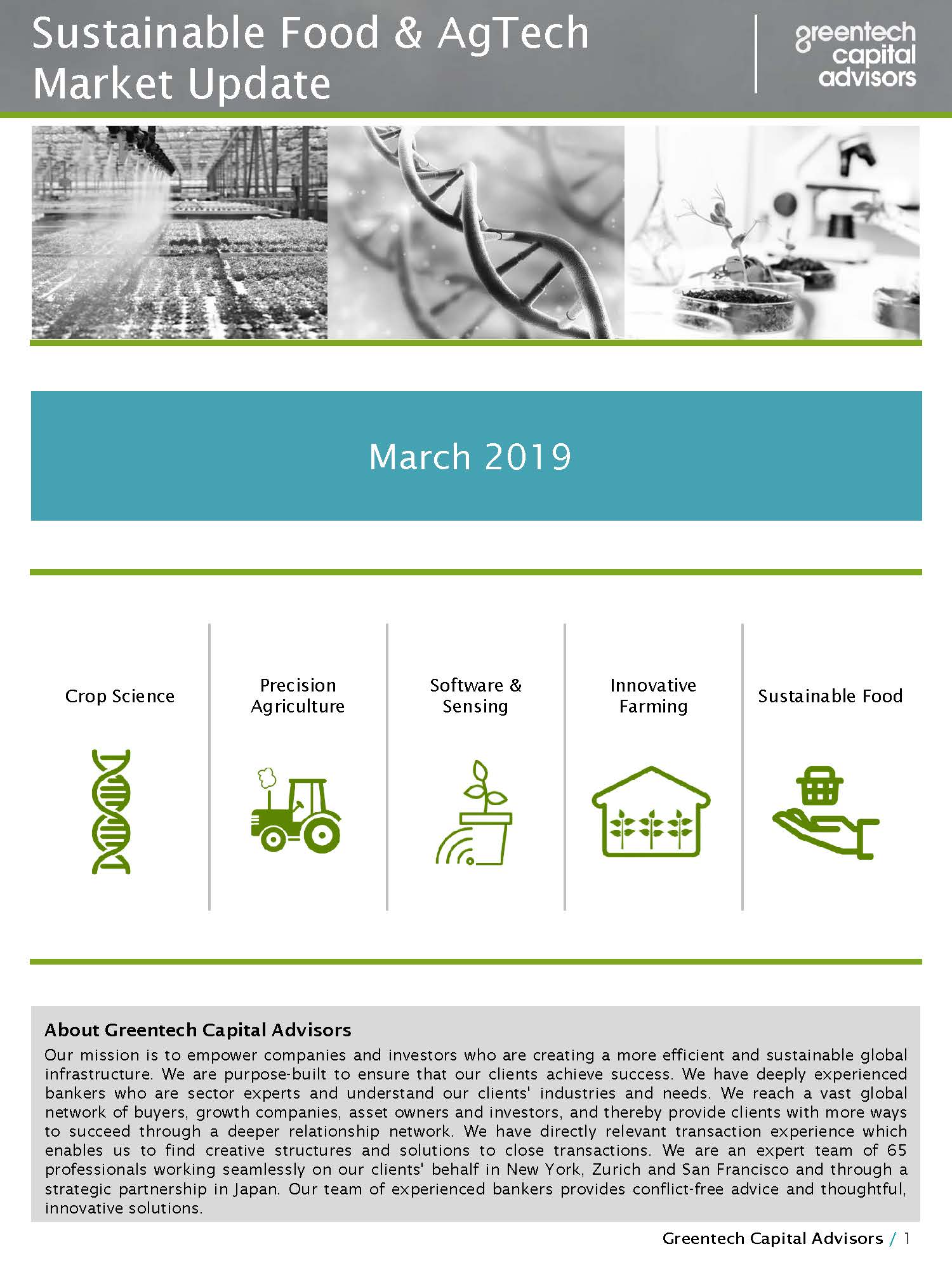 Sustainable Food & AgTech Market Update Newsletter - March 2019