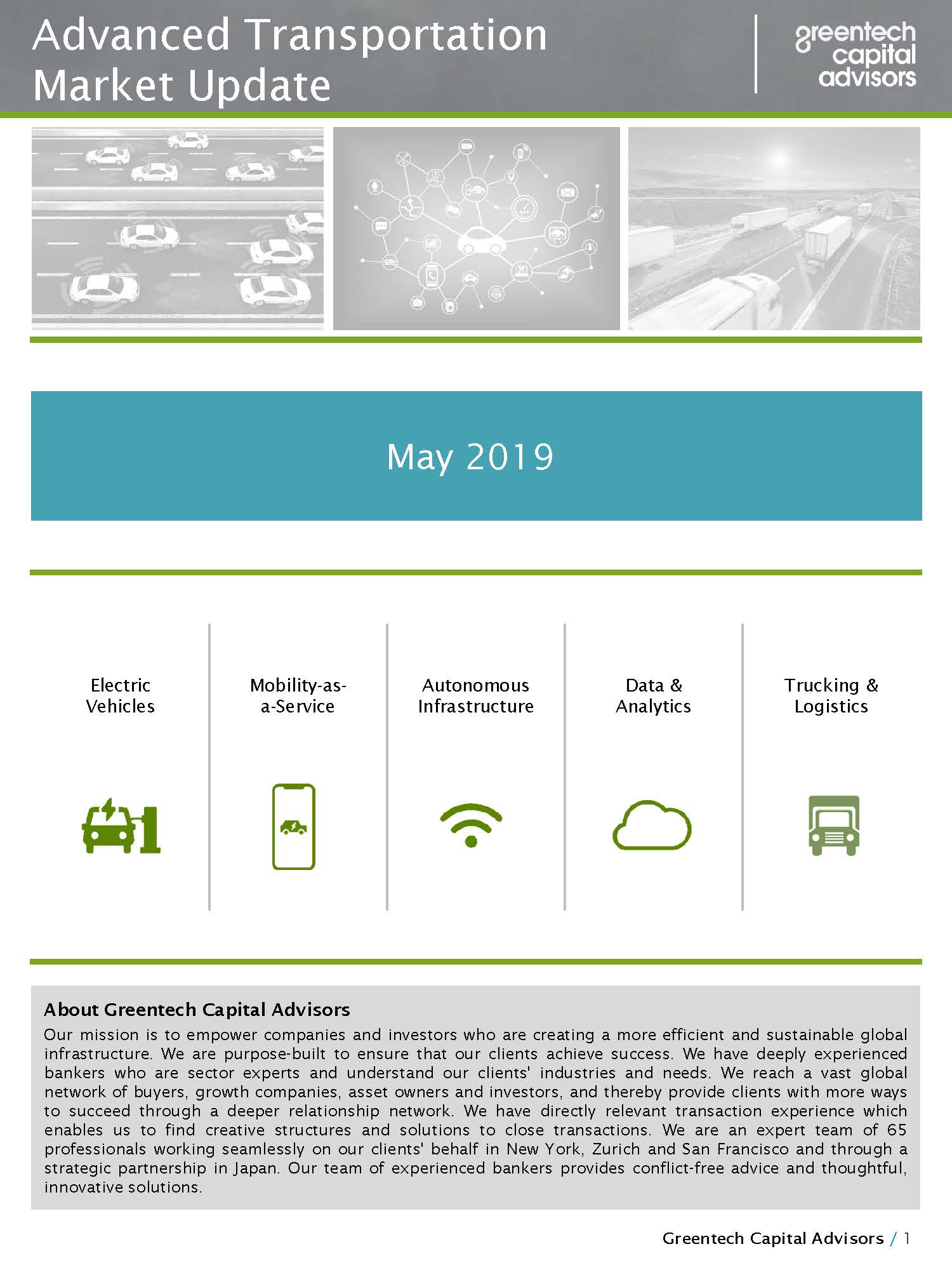 Advanced Mobility Market Update - May 2019