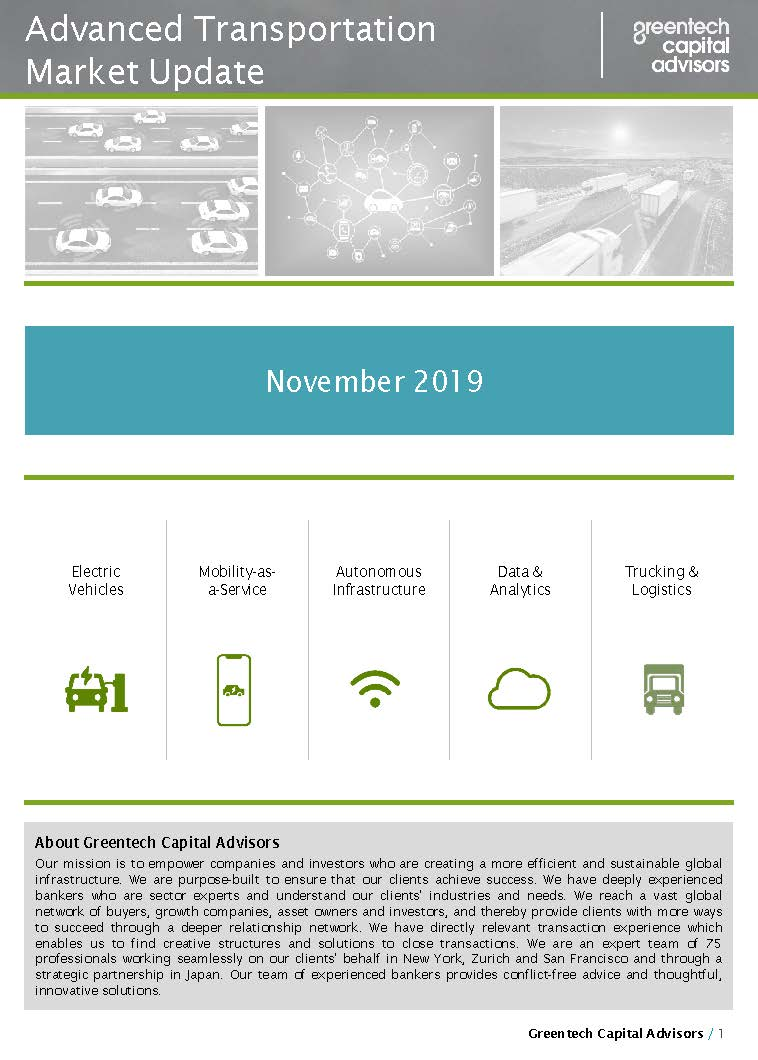 Advanced Transportation Market Update - November 2019