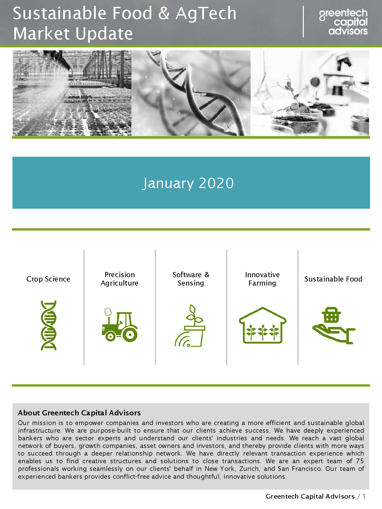 Sustainable Food & AgTech Market Update Newsletter - January 2020