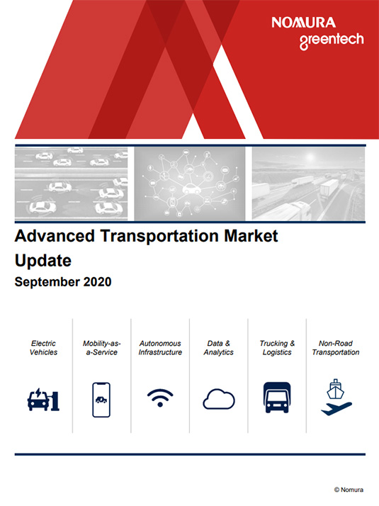 Advanced Transportation Market Update - September 2020